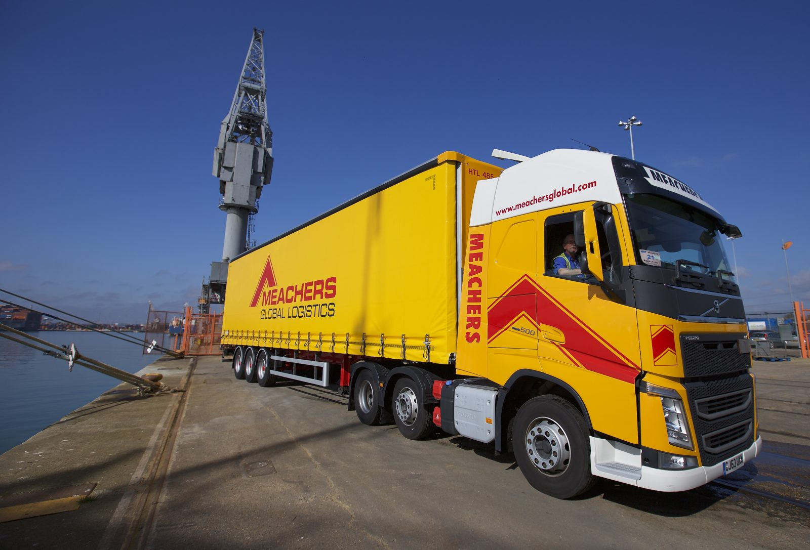 Meachers Global Logistics lorry operating Freight Forwarding solutions